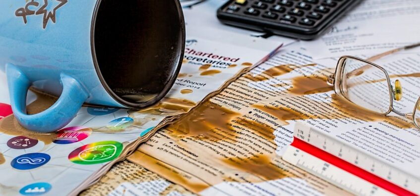 Coffee spill mistake